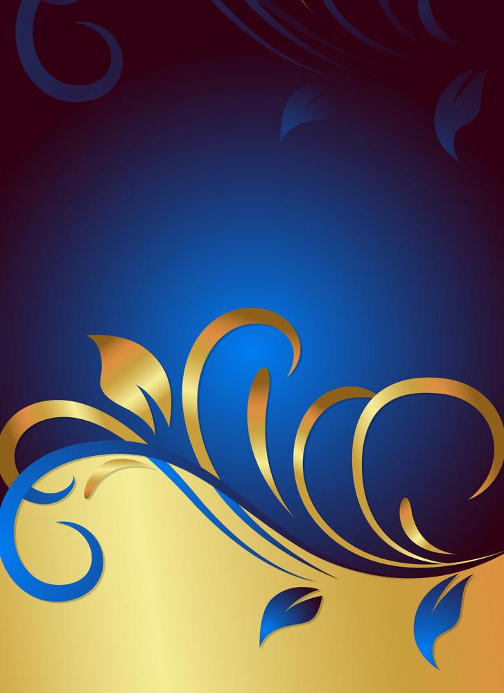 Golden Swirl Ornate Flourish Backgroundq