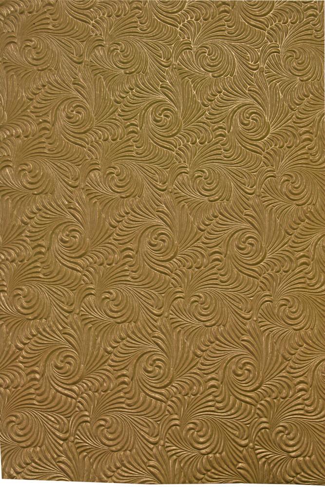 Golden Swirl Paper Pattern