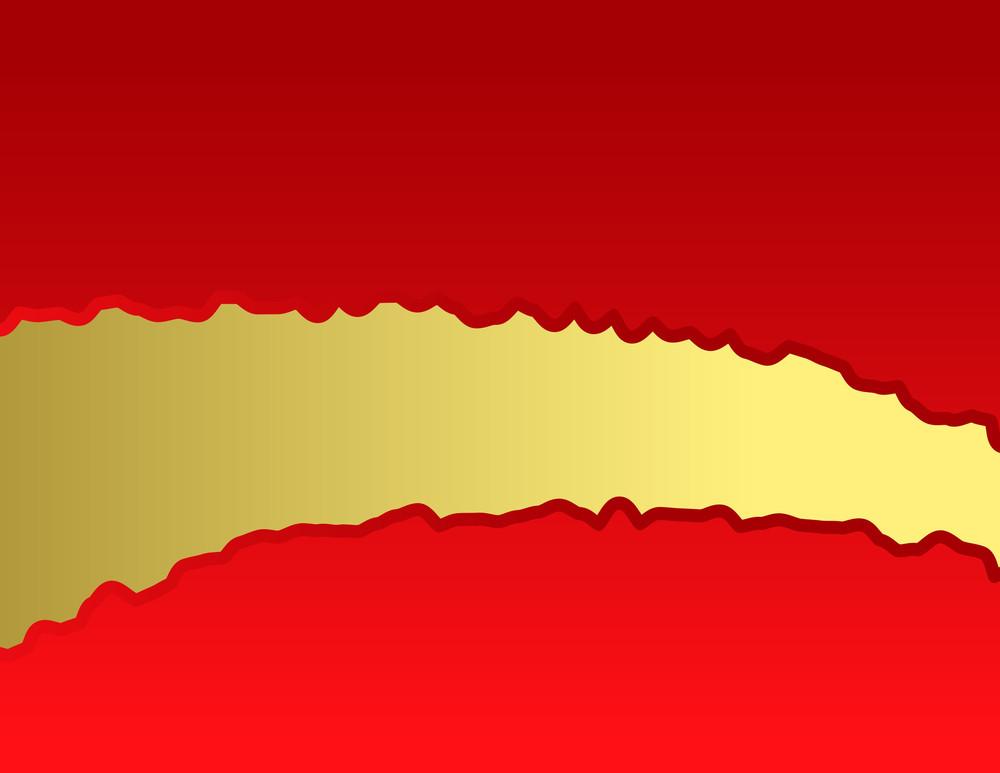 Golden Tear Paper Banner Vector