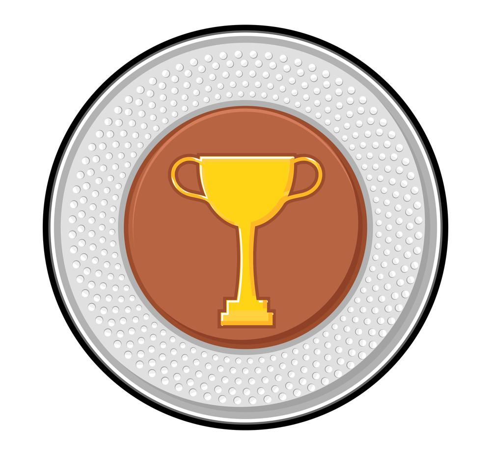 Golden Trophy Silver Coin
