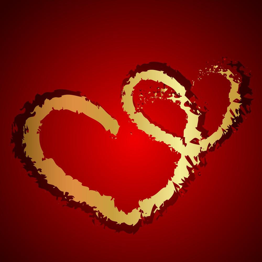 Golden Valentine Heart Greeting