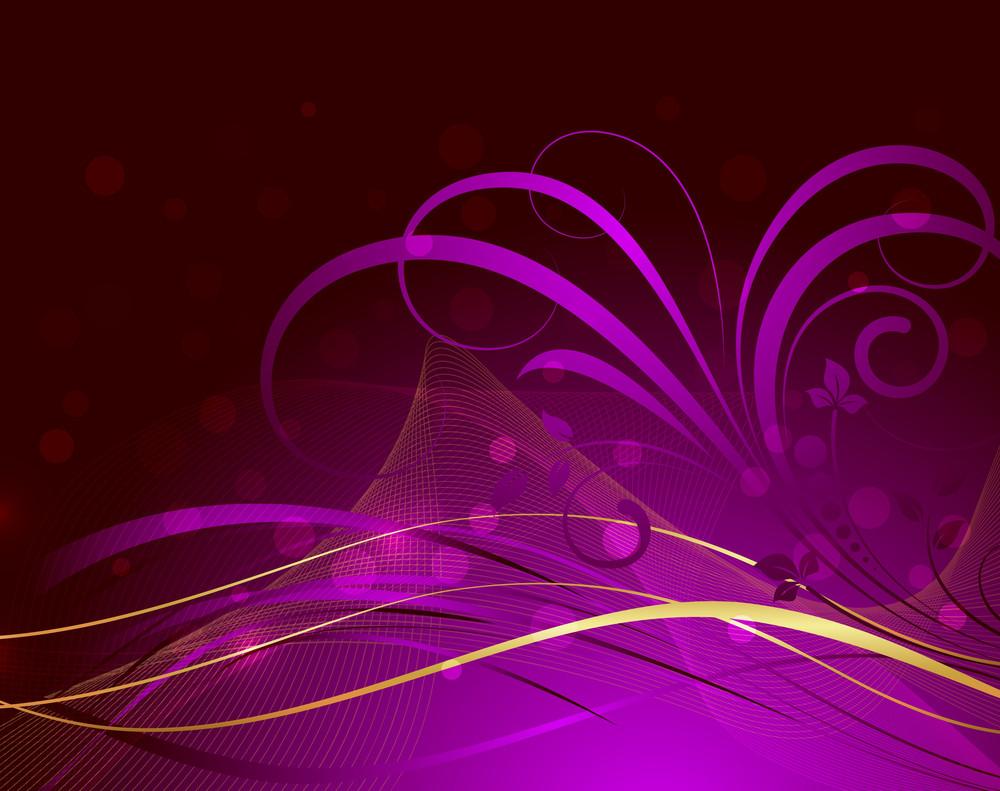 Golden Wave Bokeh Flora Design