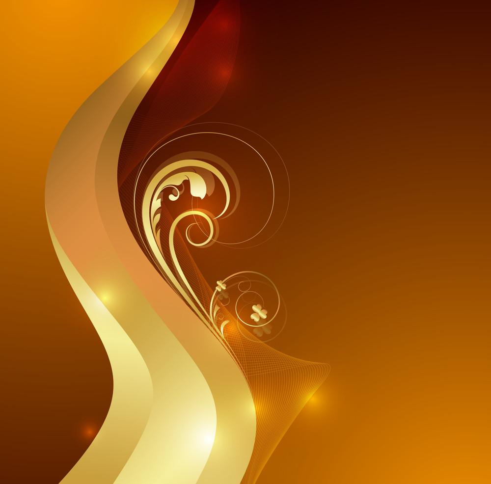 Golden Wave Bright Floral