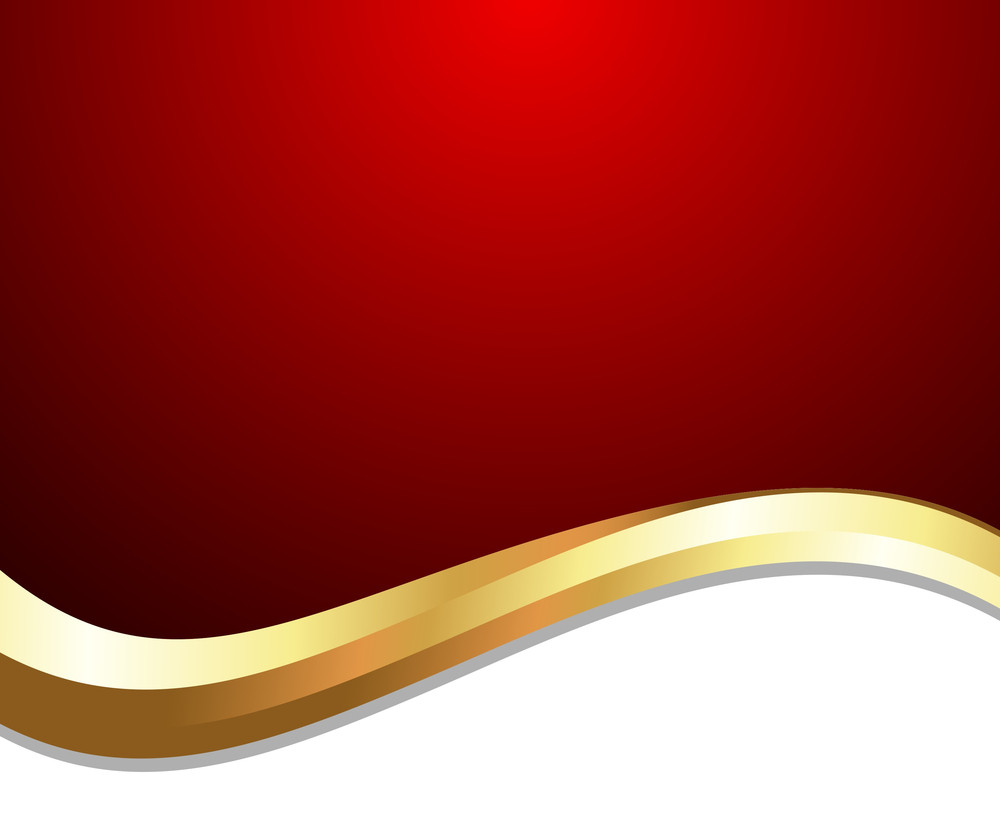 Golden Wave Design Template Banner