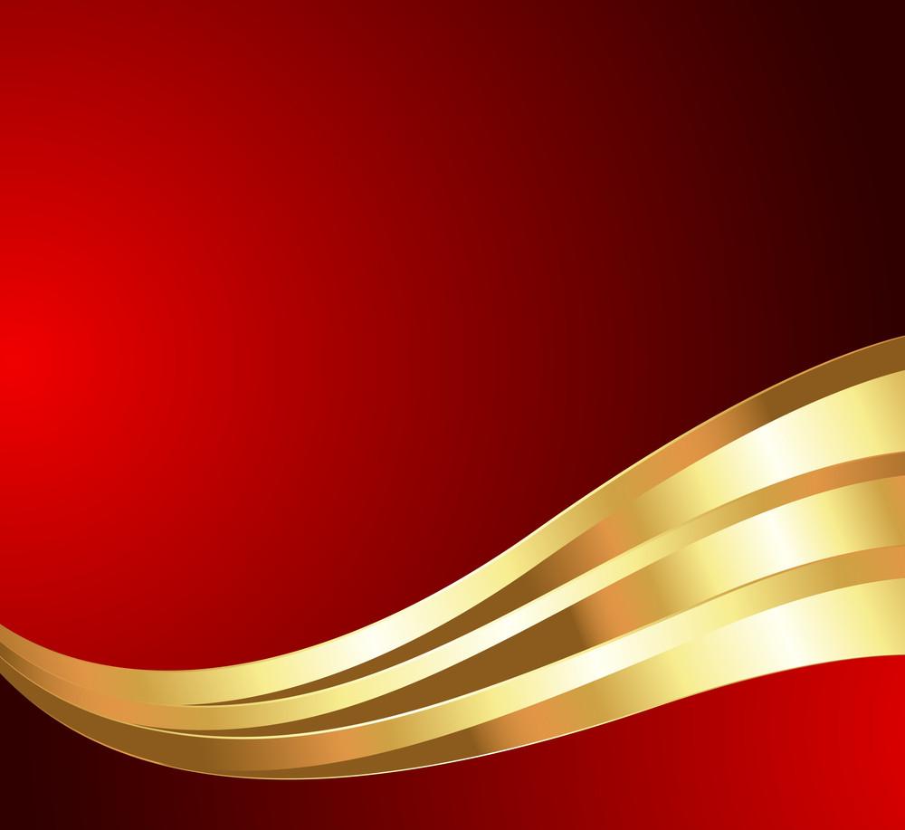 Golden Wave Festive Background