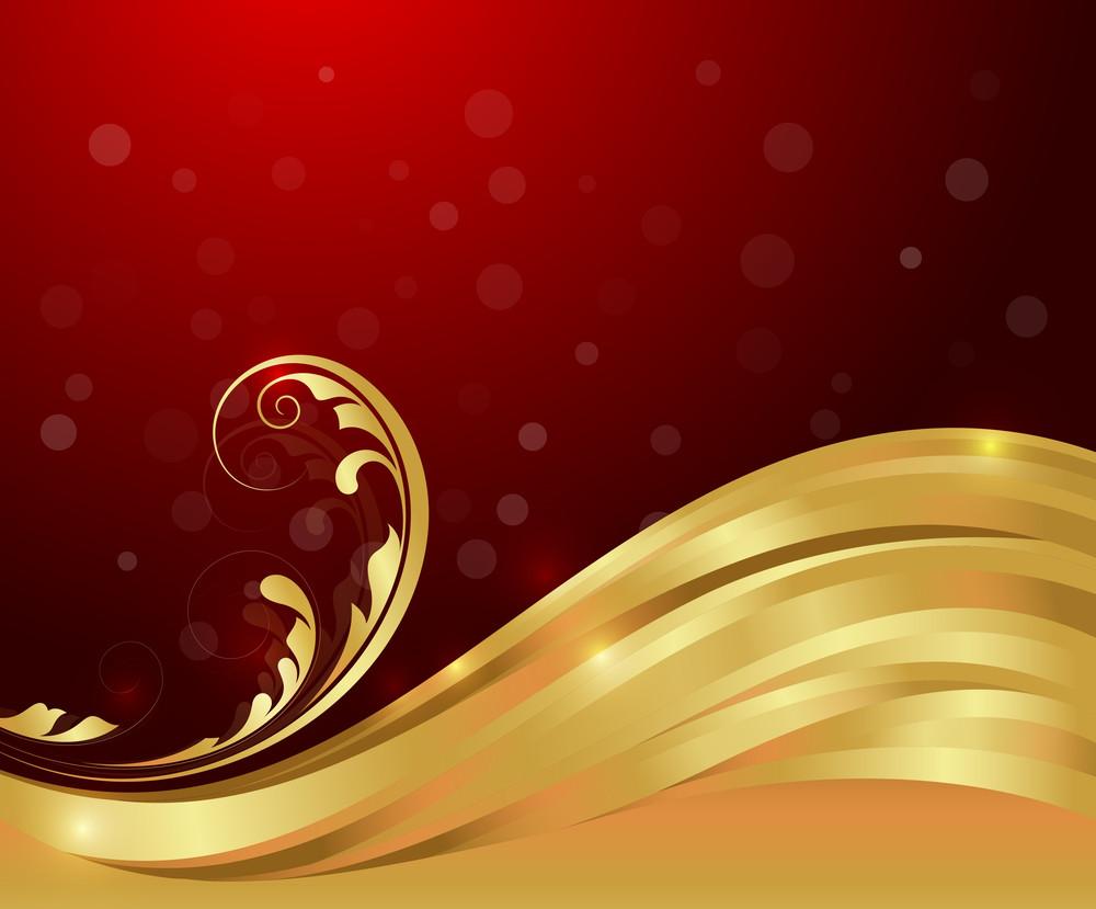Golden Wave Flourish Backdrop
