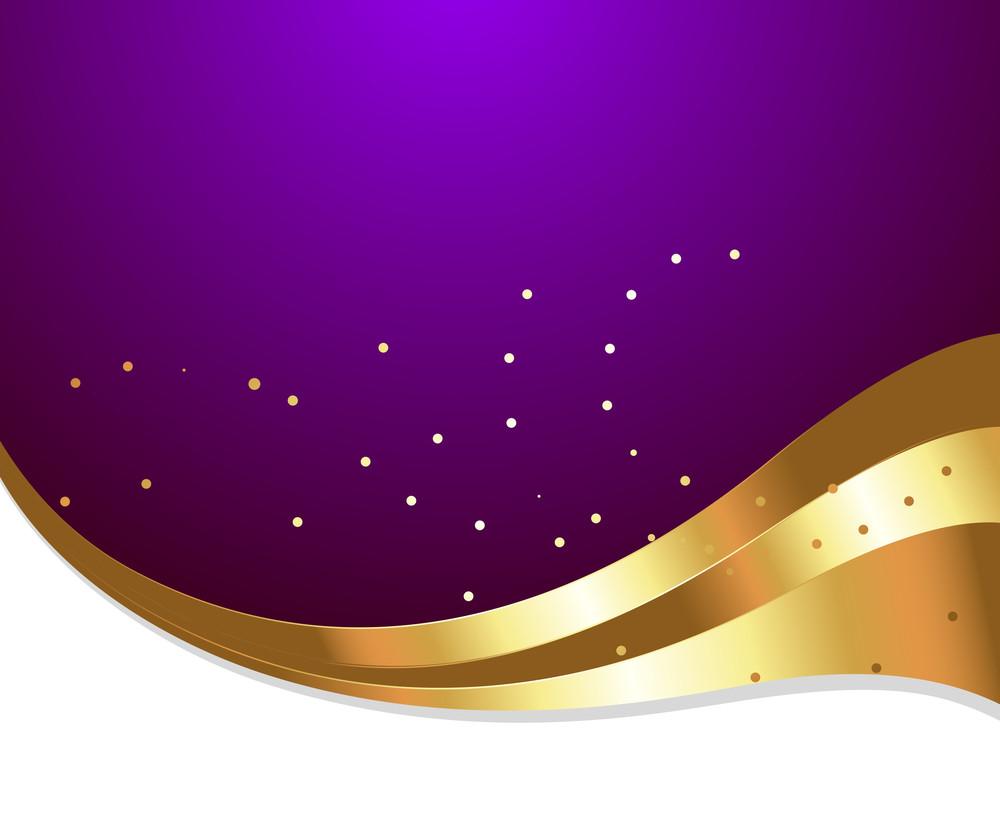 Golden Wave Sparkles Festive Template