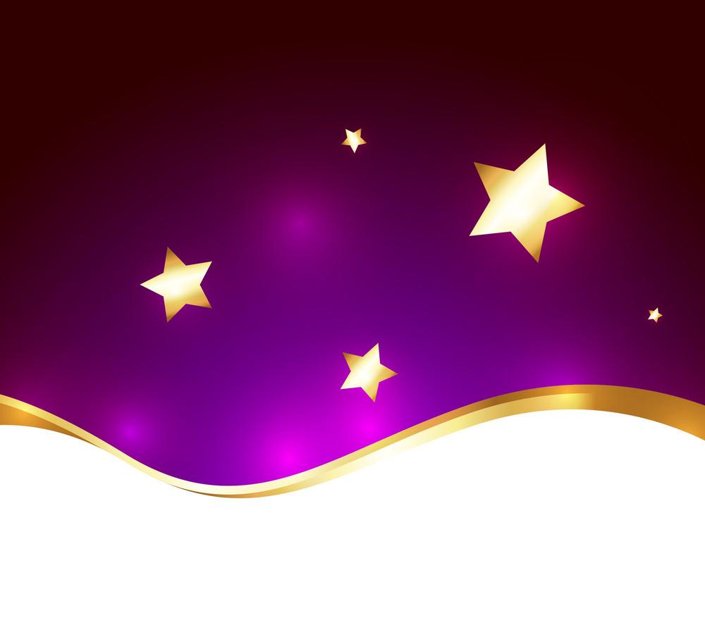 Golden Wave Stars Background