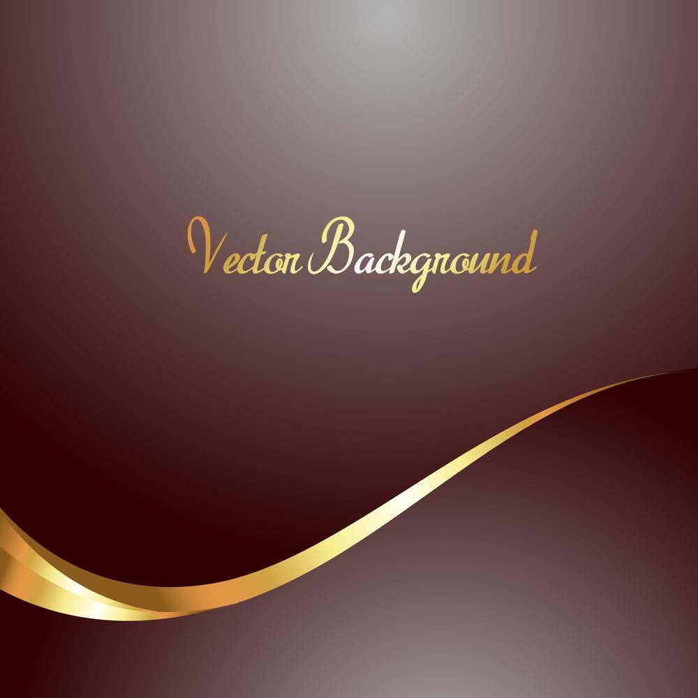 Golden Wave Vector Background