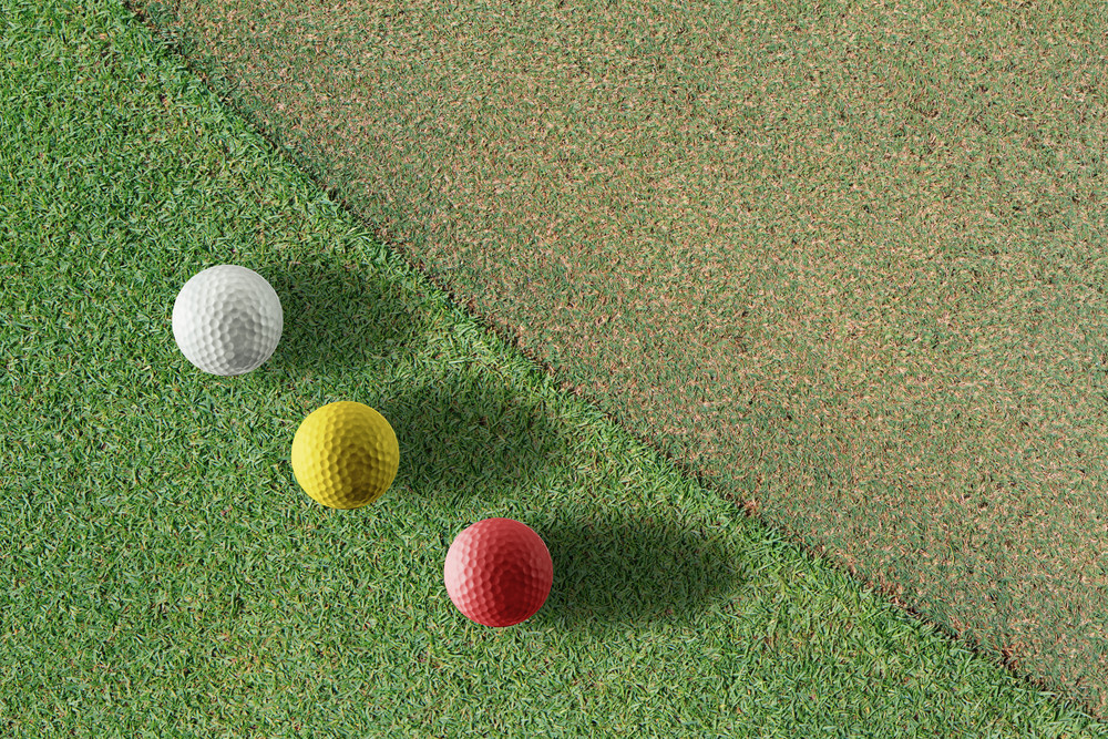Golf Ball On Green