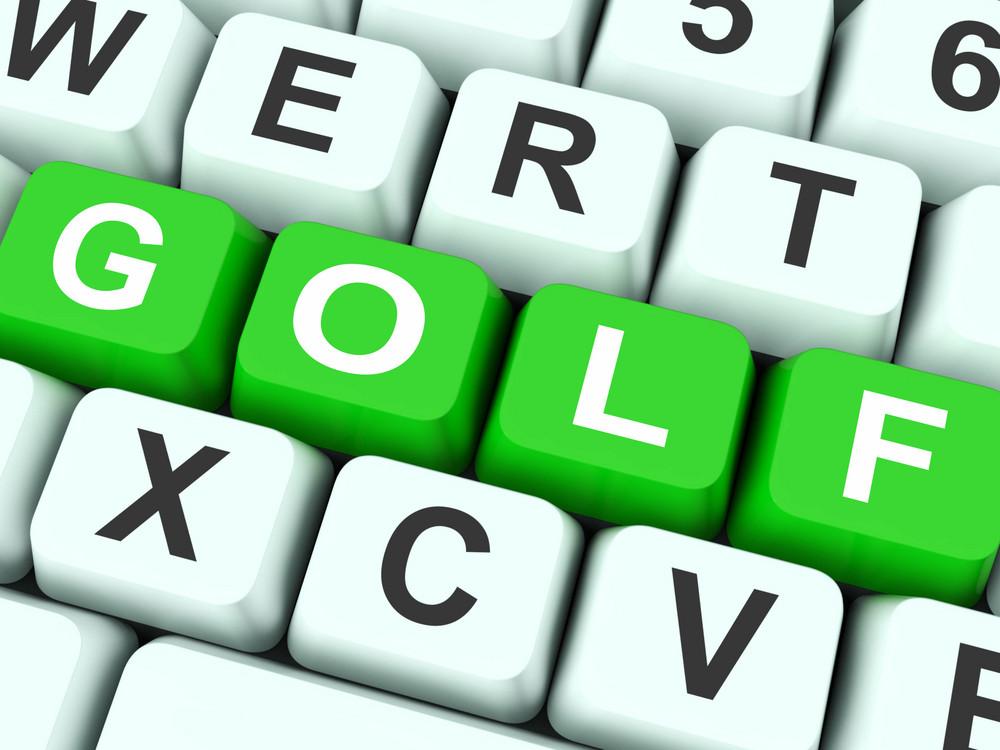 Golf Keys Show Golfing Or Golfer