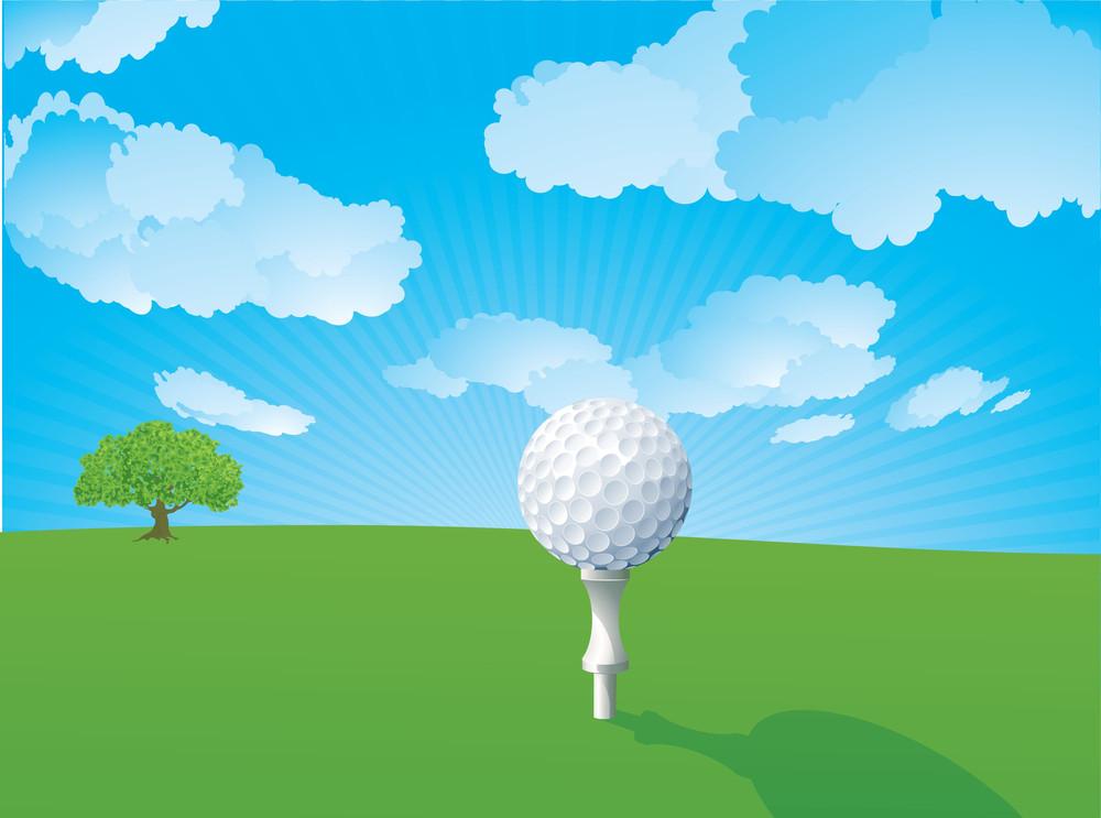 Golf. Vector.