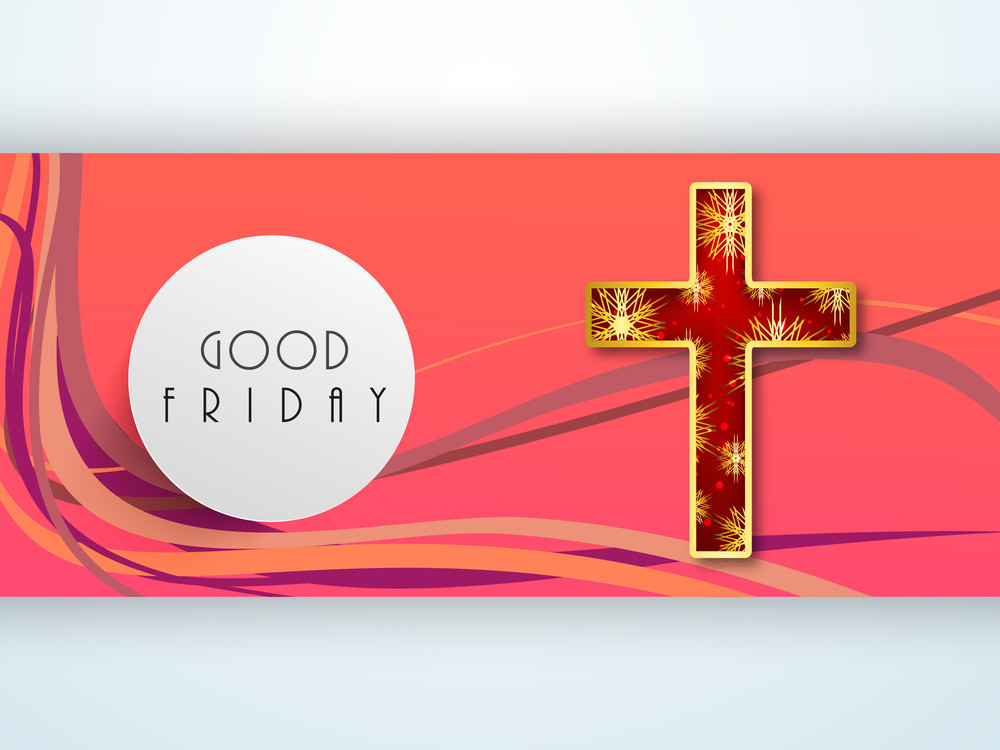 Good Friday Background With Religious Christian Cross.