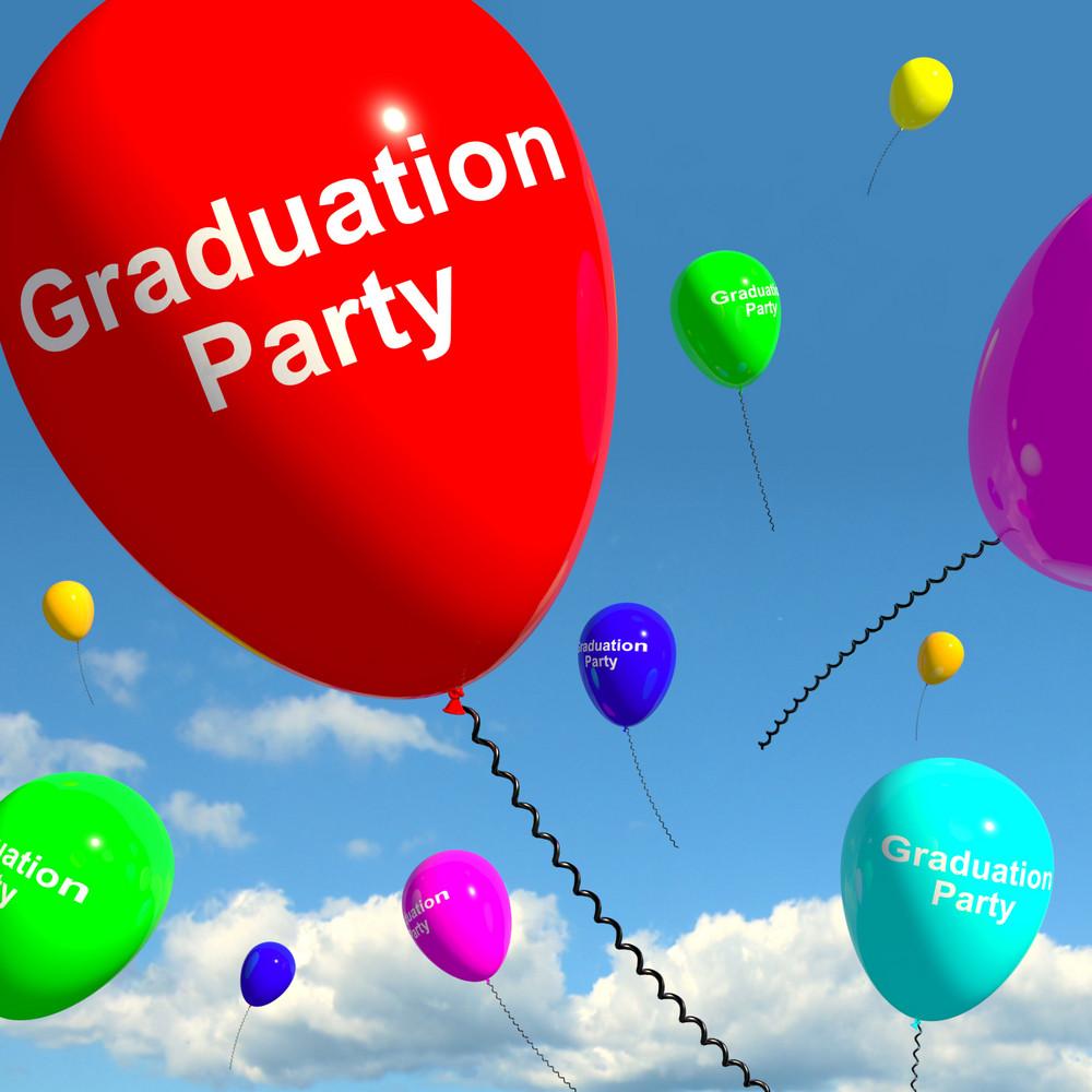 Graduation Balloons Showing School College Or University Graduation