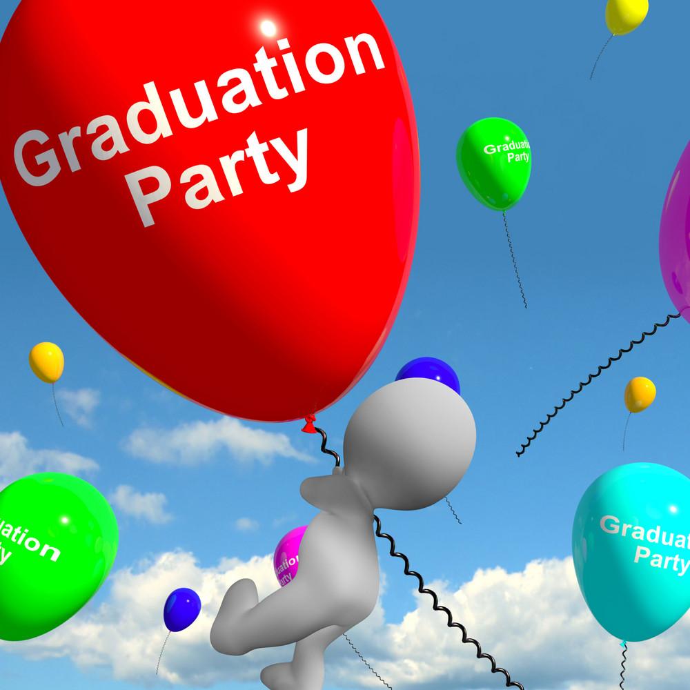 Graduation Balloons Showing School College Or University Graduations