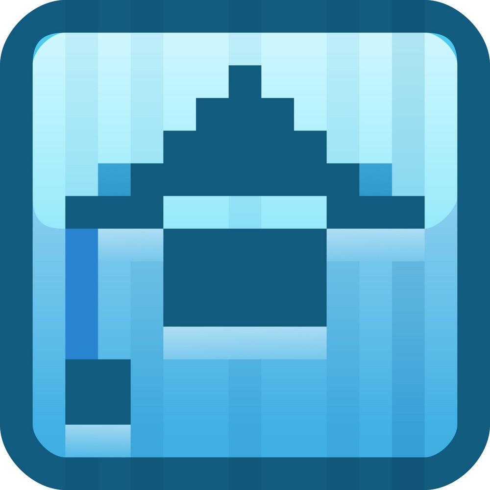 Graduation Cap Blue Tiny App Icon
