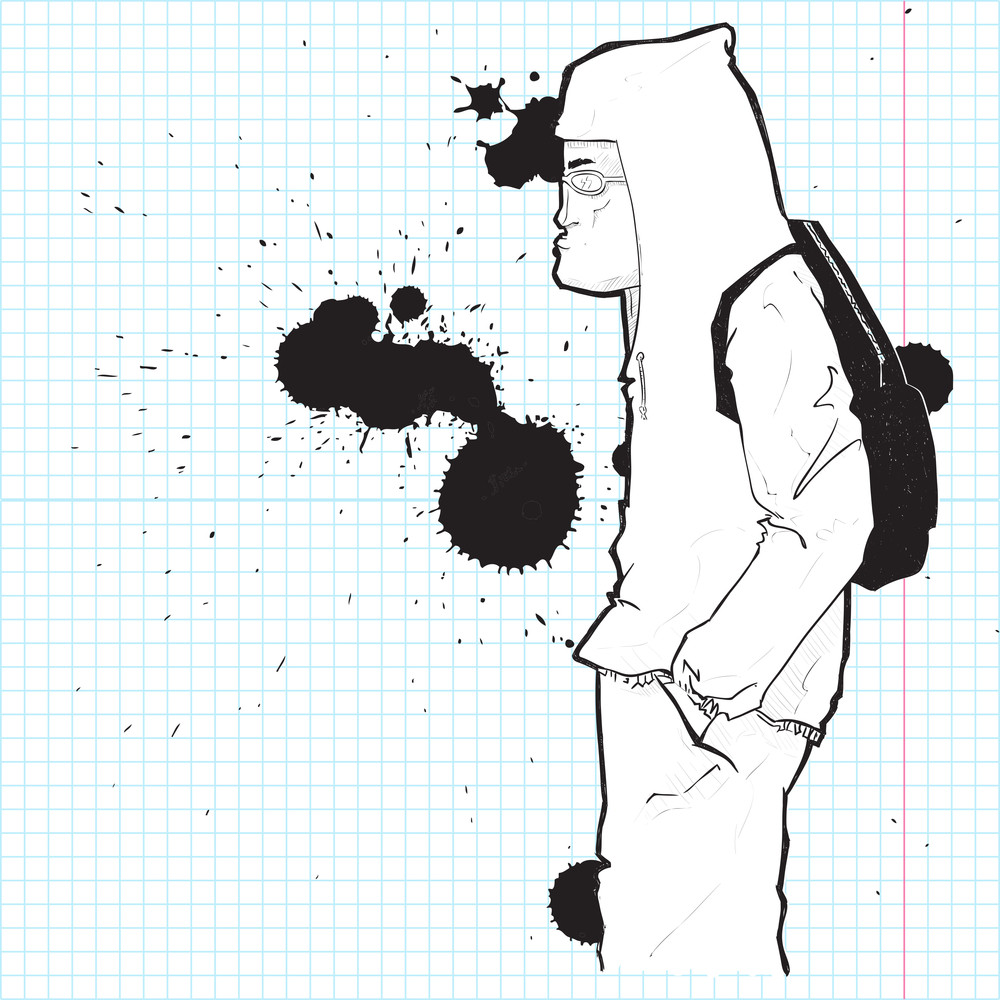 Graffiti Character In Sketch-style. Vector Illustration.