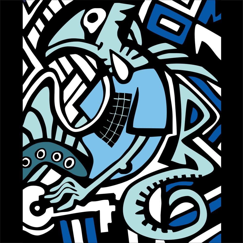 Graffiti Sketch With Dragon