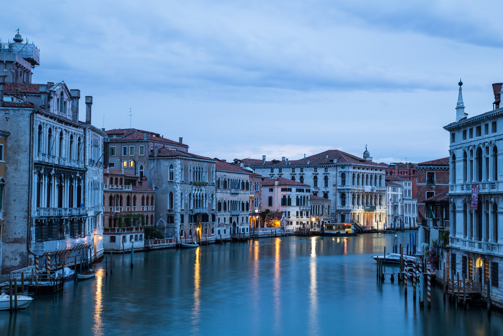 Grand Canal in Venice, Italy at sunrise