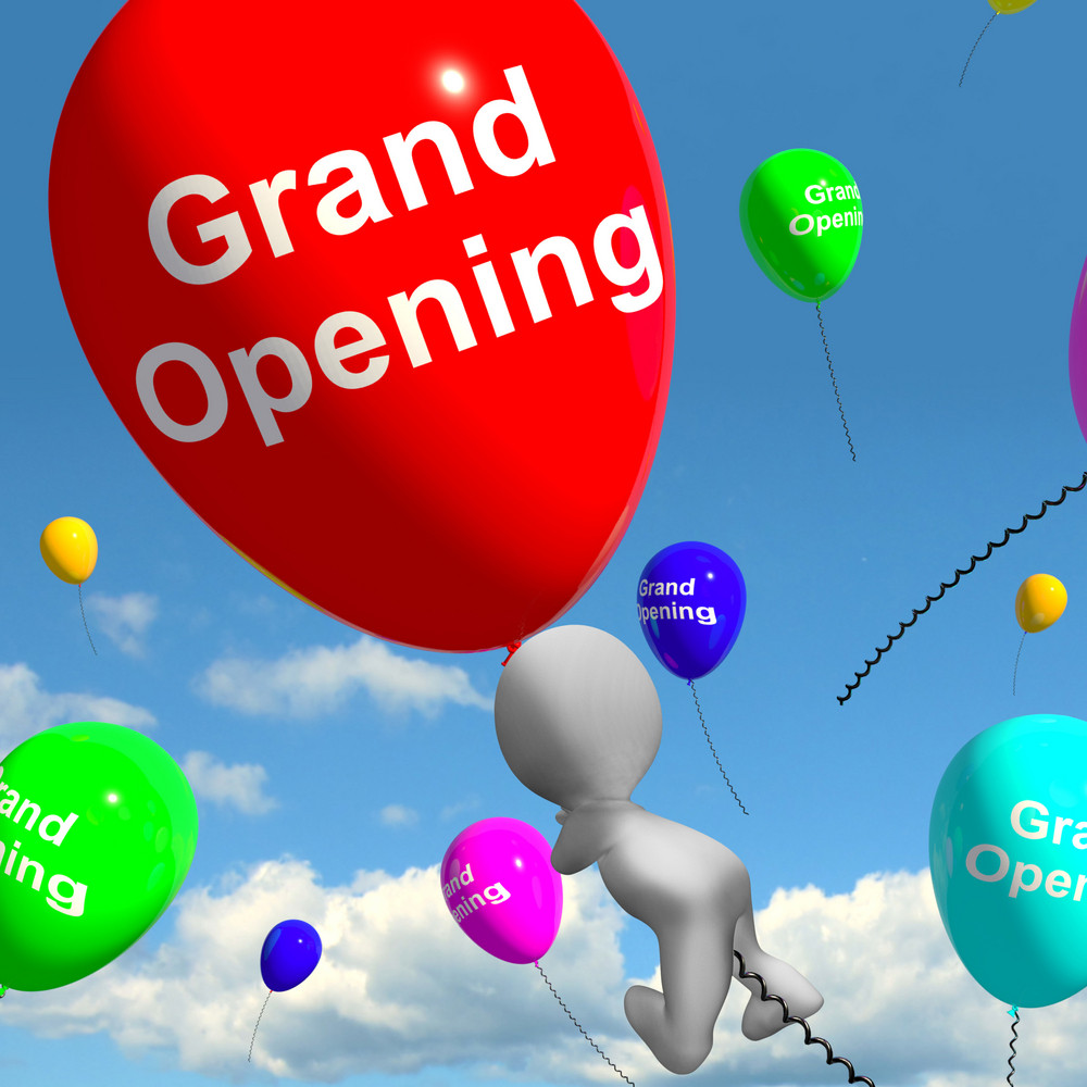Grand Opening Balloons Shows New Store Launching