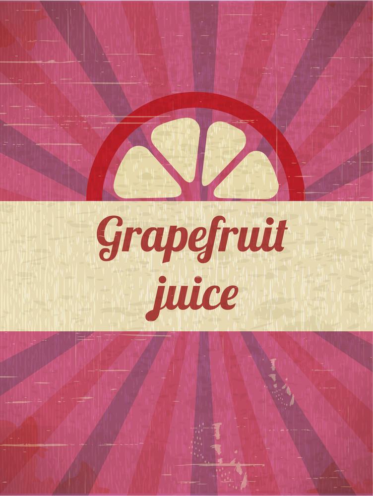 Grapefruit Retro Background (editable Text)