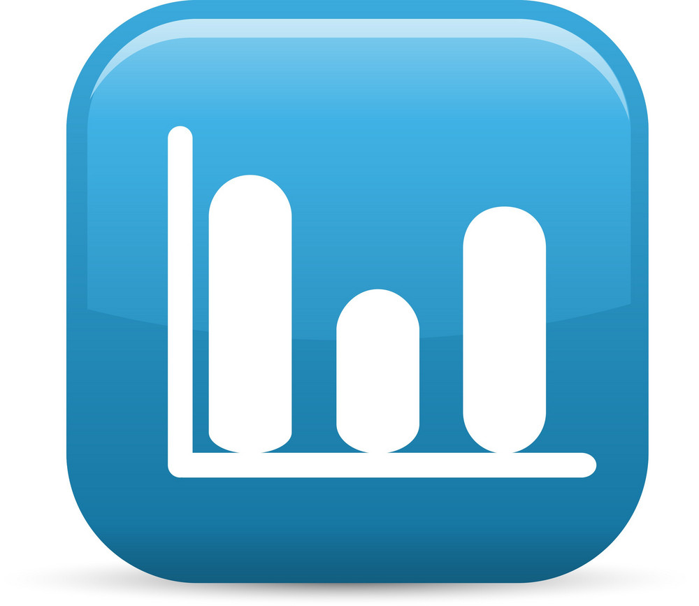 Graph Elements Glossy Icon