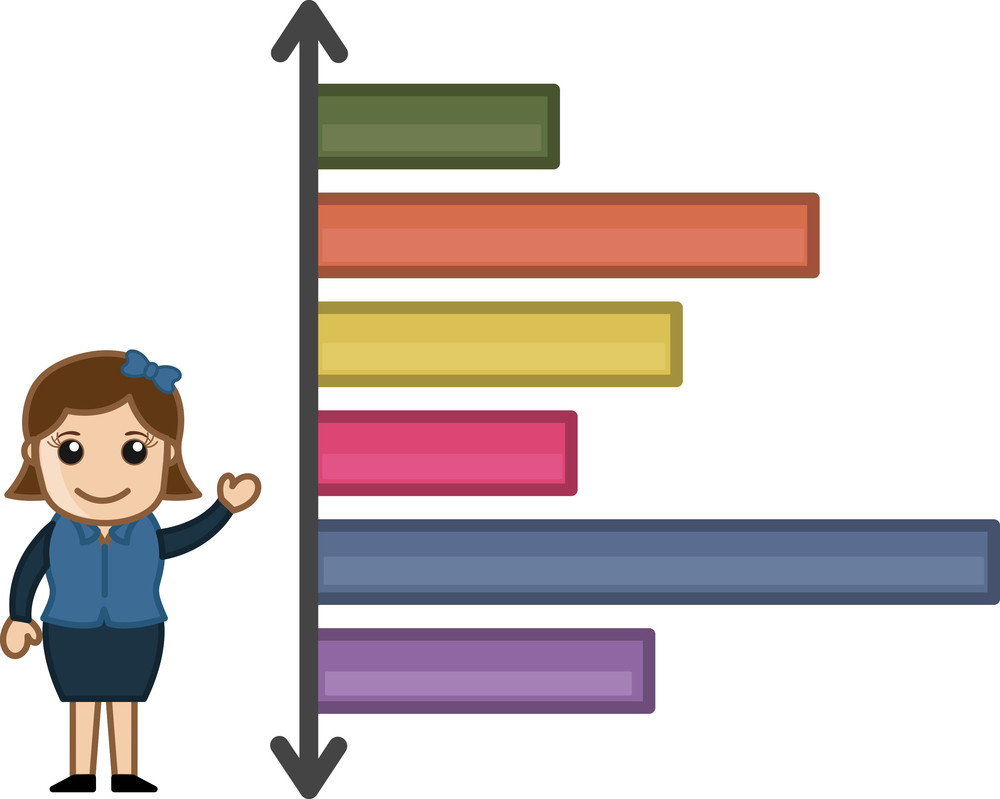 Graph Stats On Various Time - Cartoon Bussiness Vector Illustrations