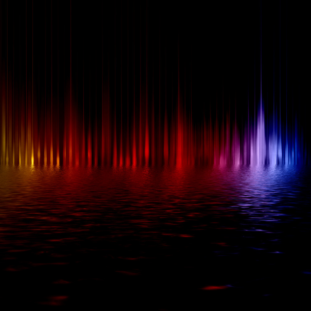 Abstract background with blurred magic color light rays.�