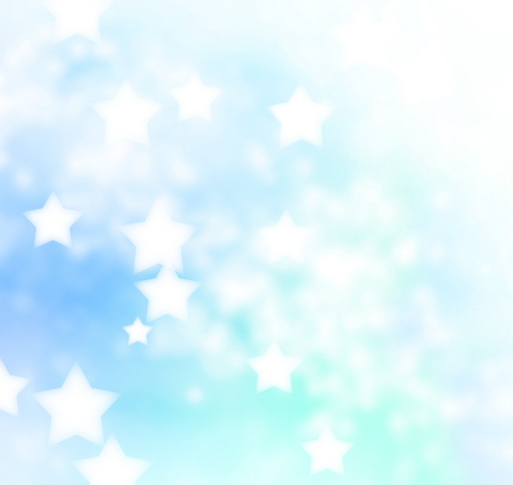 Abstract Blue Star Lights Background