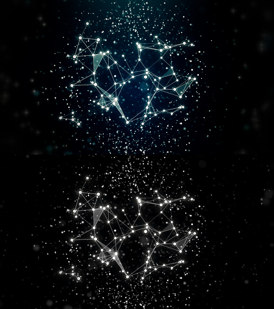 Abstract Stars Constellation