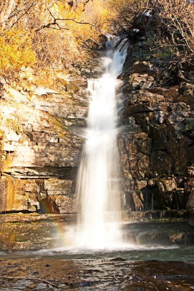 Amazing Waterfall in Autumn