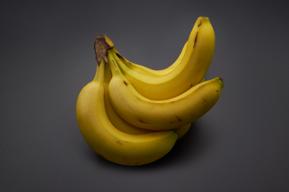 bananas on the black background