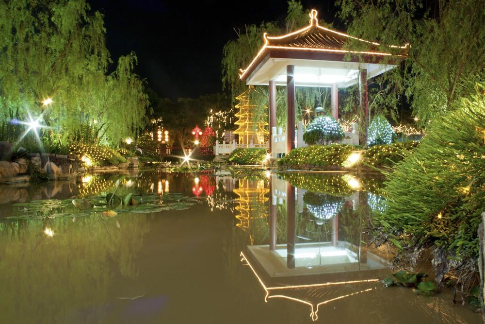 Beautiful Night Garden Lake ,Malaysia
