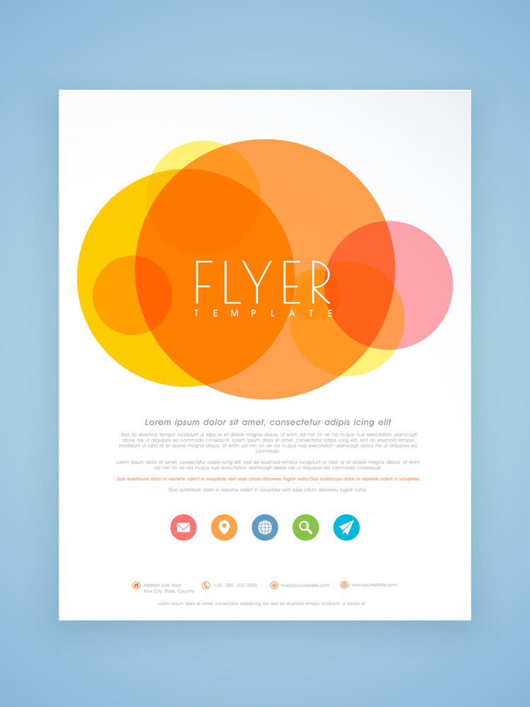 Beautiful Professional Flyer Template Or Brochure Design For Your