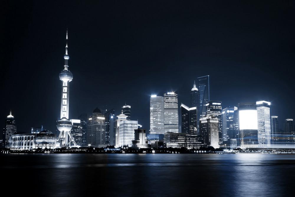 Beautiful Shanghai Pudong skyline at night