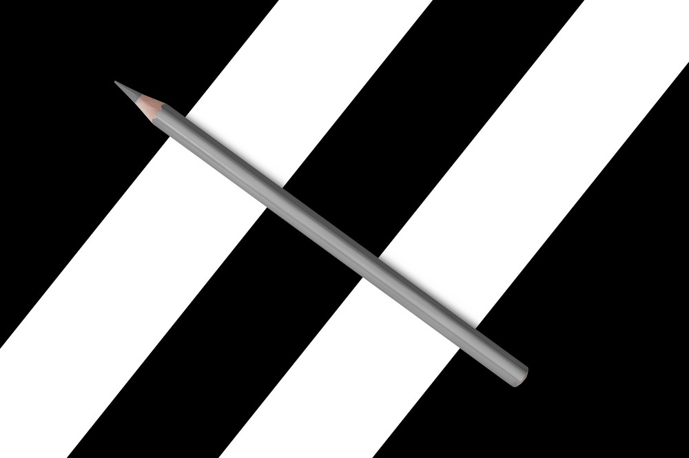 black and white composition of pencils