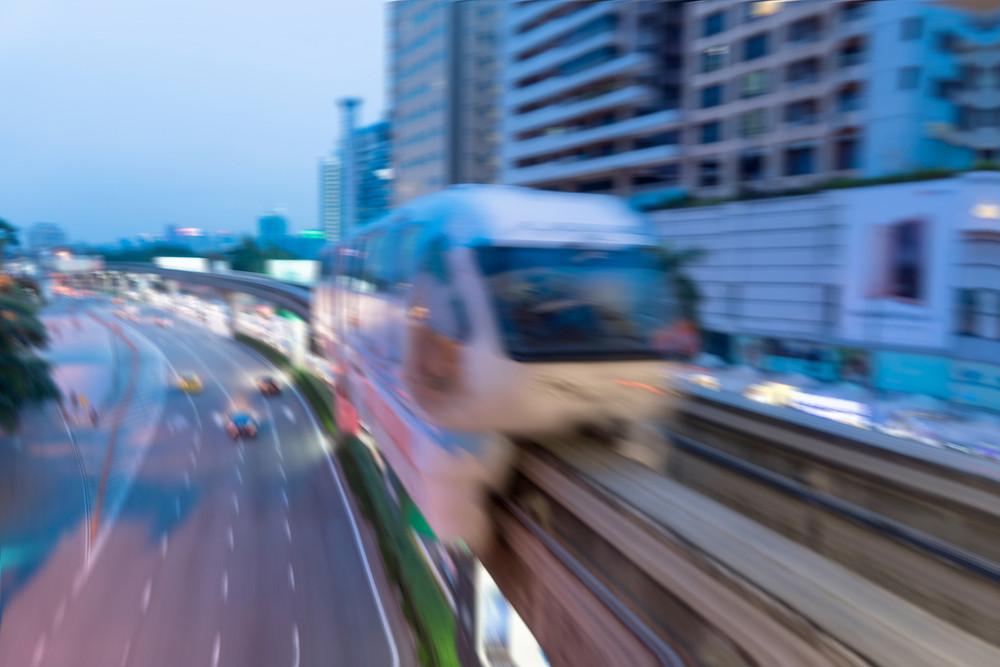 blurred building and transportation backgrounds:blur of metropolis city building construction :blur of track railway:blur backdrop concept.
