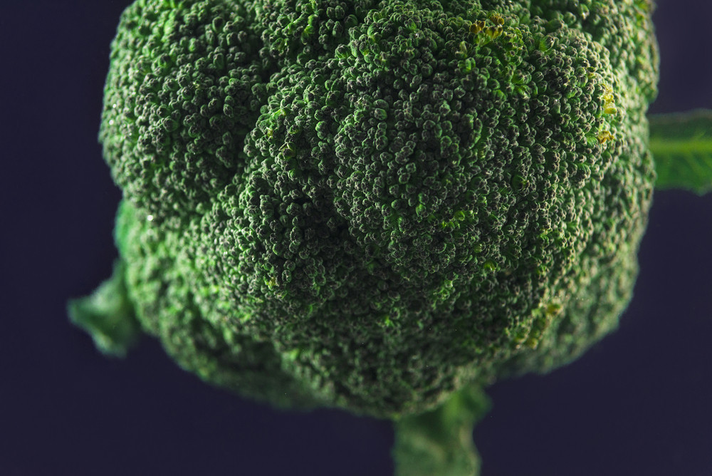 Broccoli after being washed isolated