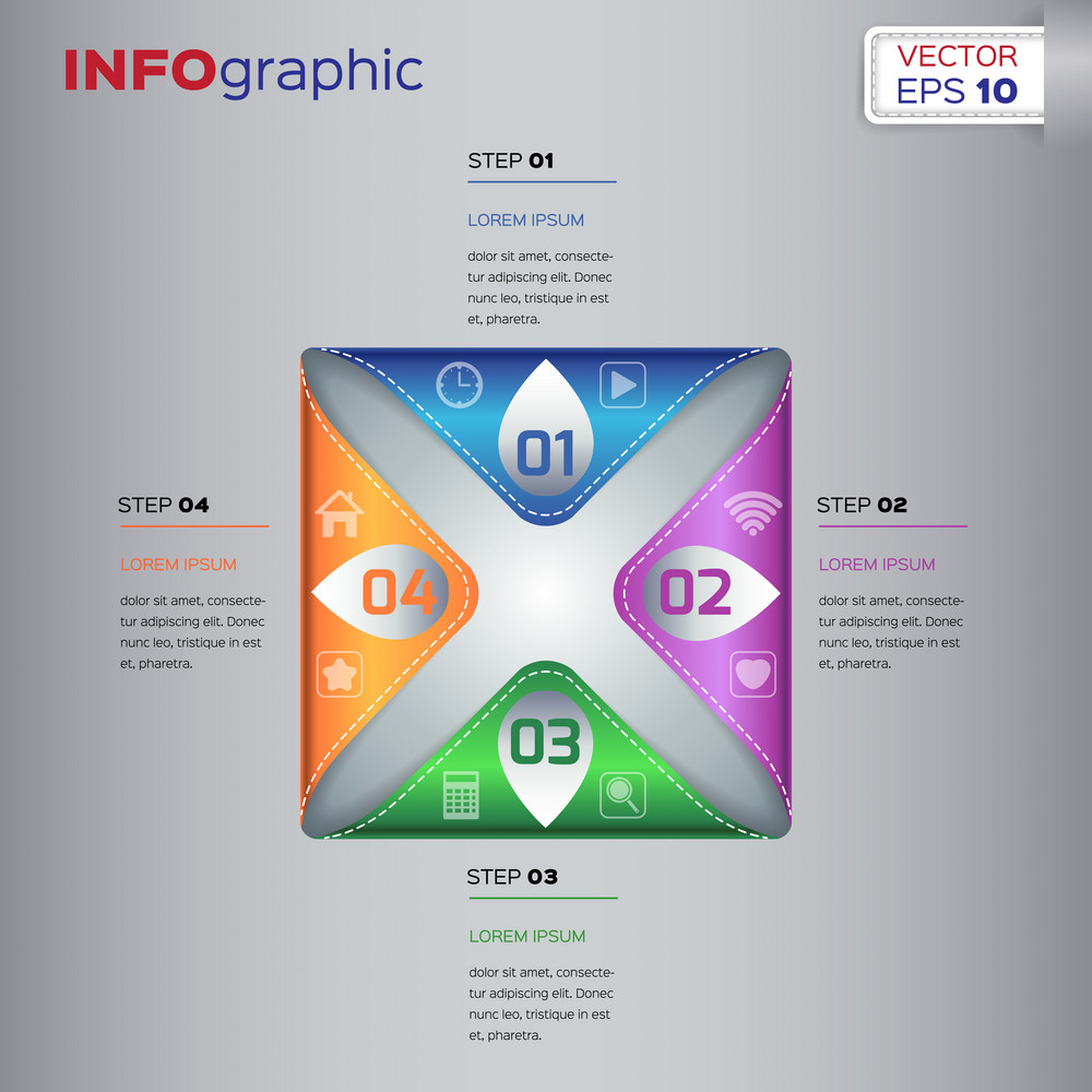 Collection of different infographic vector elements and templates.