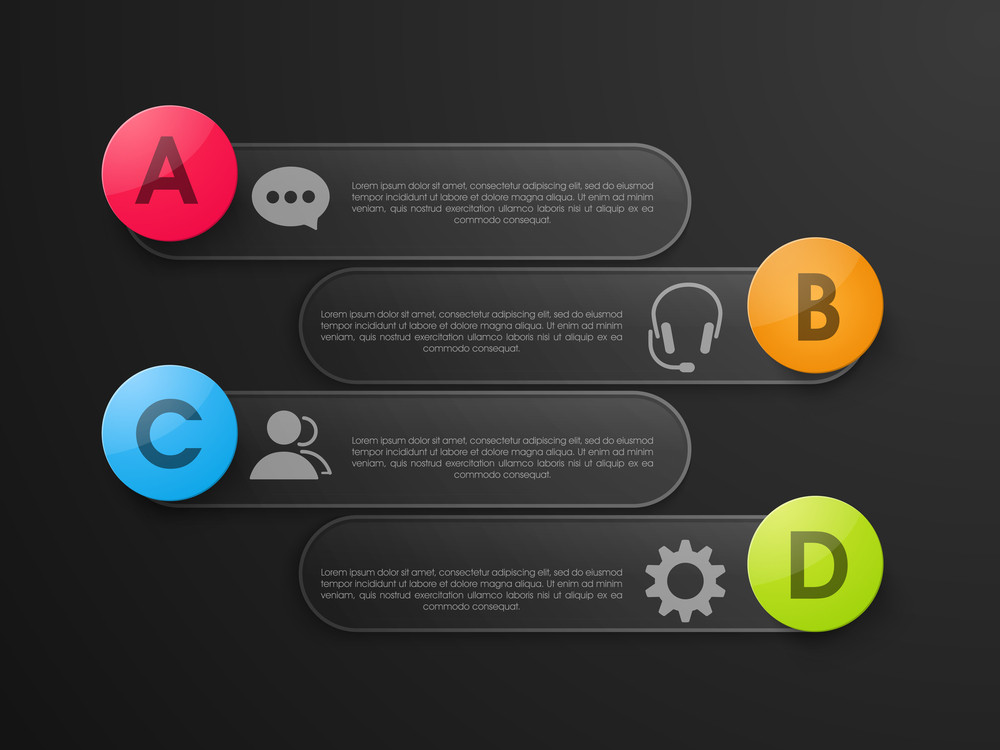 Creative Business infographic elements layout on grey background.