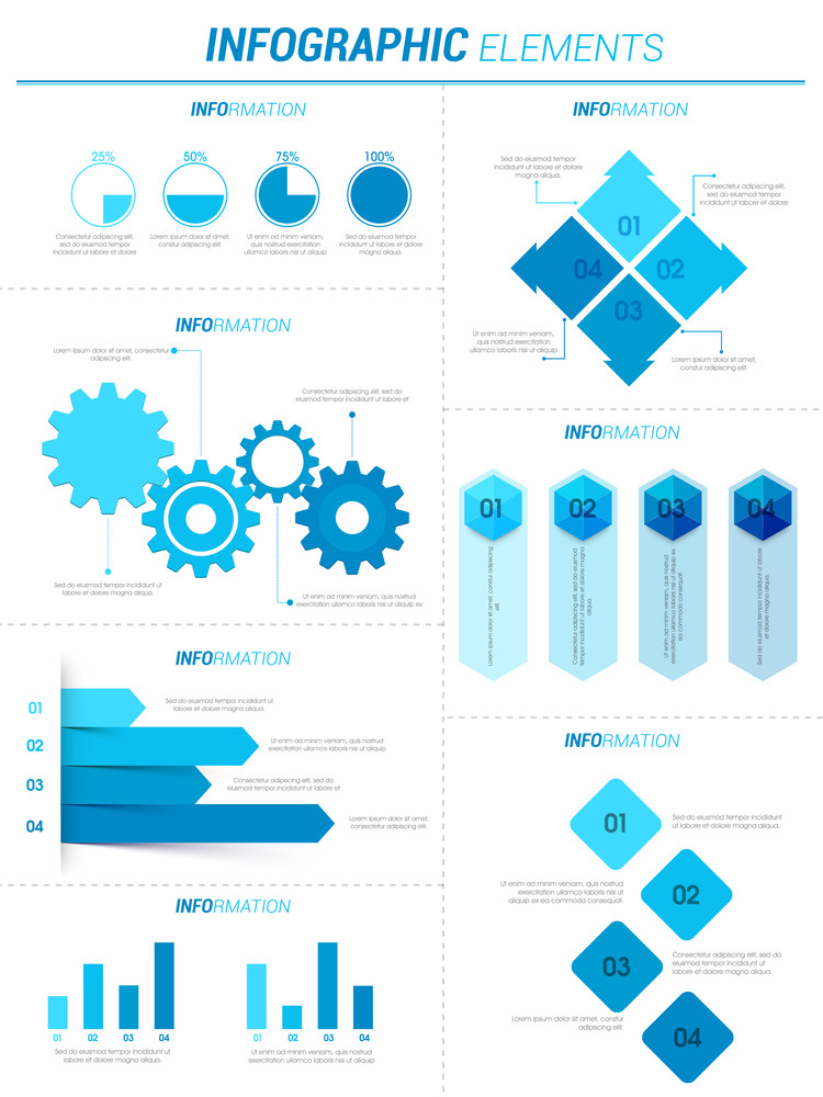 Creative Business Infographic template layout with various statistical graphs, charts and bar.