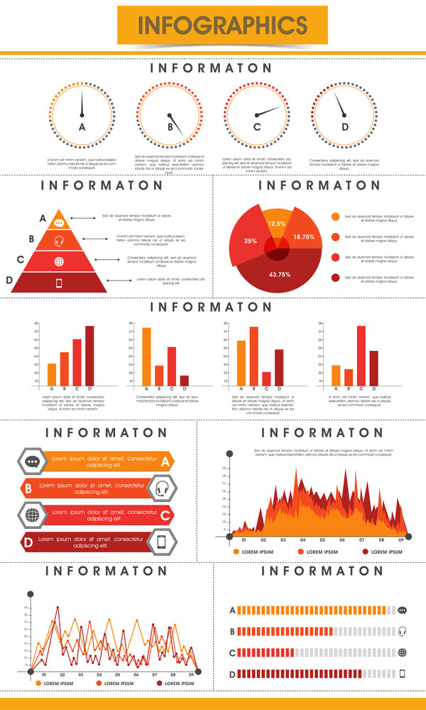 Creative business infographics template with statistical graphs pie creative business infographics template with statistical graphs pie charts and paper bars to present your data in effective way cheaphphosting Images