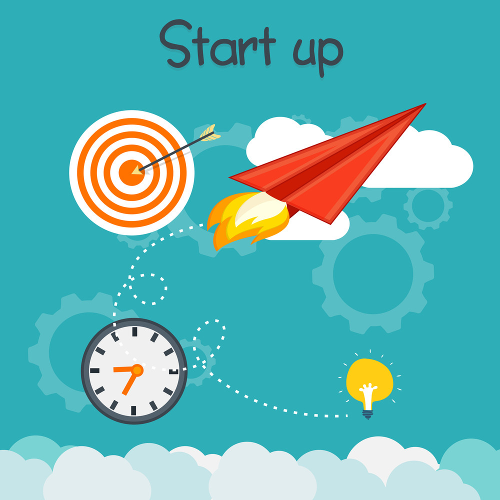 Creative Infographic Elements For Start Up A New Business Project Or Ideas Successful Progress