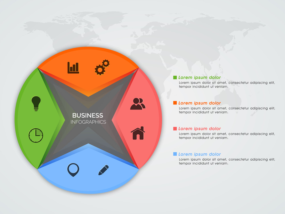 Creative Infographic Elements With Web Symbols For Your Business