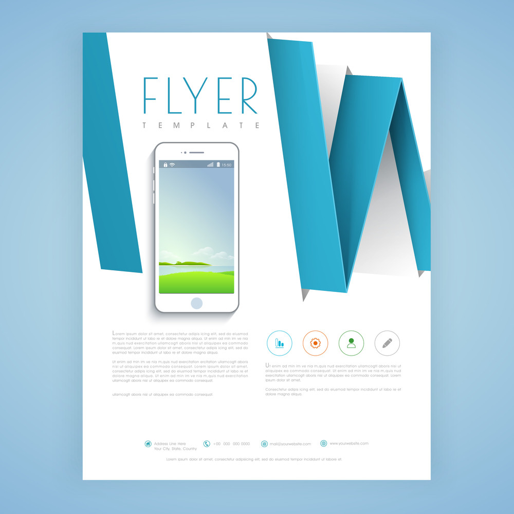 creative professional flyer template or brochure design with