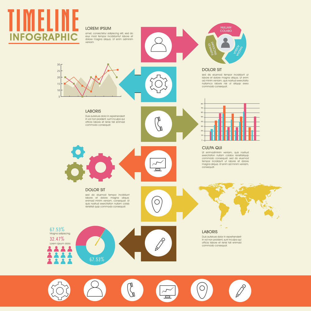creative timeline infographic template layout for your