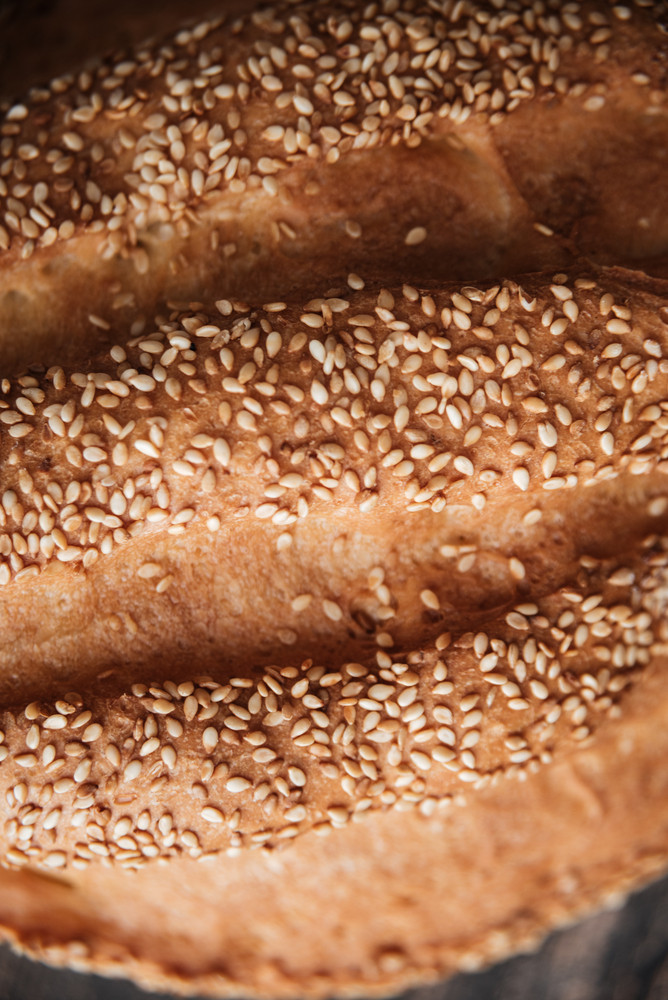 Cropped picture of bread at bakery
