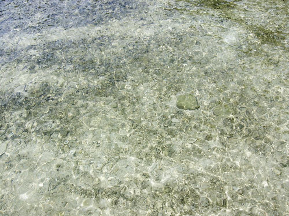 Crystal clear sea water