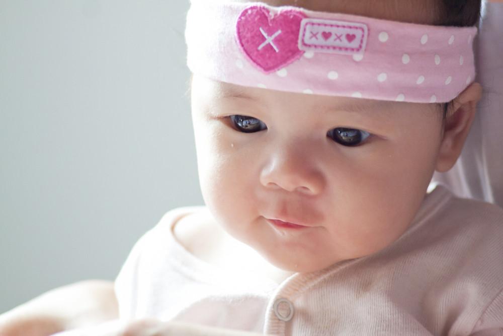 cute asian baby face