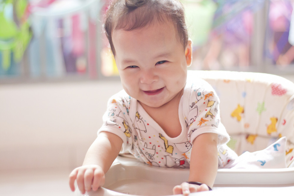 cute asian smile baby